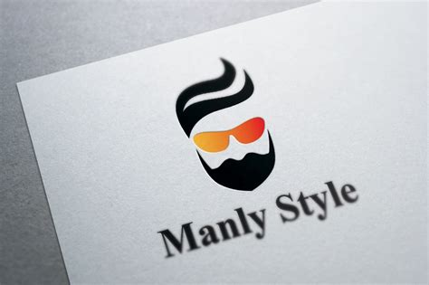 stylish beard  hair logo template logo templates