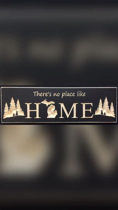 a no place like home with trees s coop signs