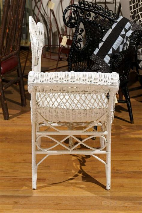 White Wicker Chairs For Sale by White Wicker Photographers Chair For Sale At 1stdibs