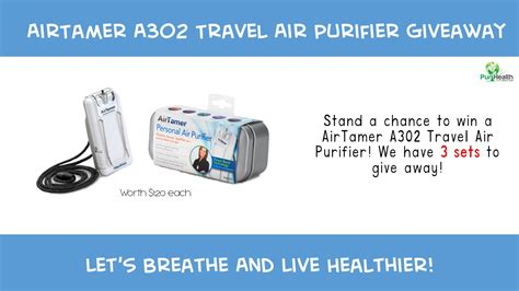 airtamer a302 travel air purifier giveaway the new age parents
