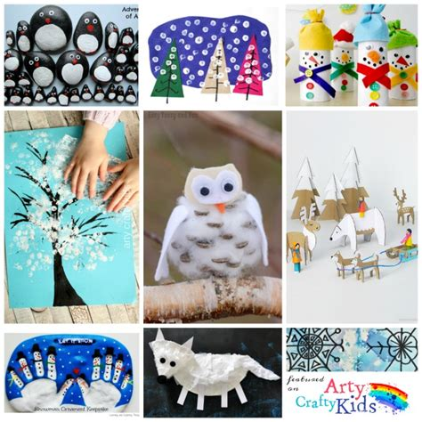 winter crafts 16 easy winter crafts for arty crafty