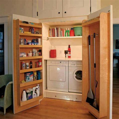 Laundry Room Storage Cabinets With Doors 15 Laundry Spaces That Cleverly Conceal Their Unsightly Appliances