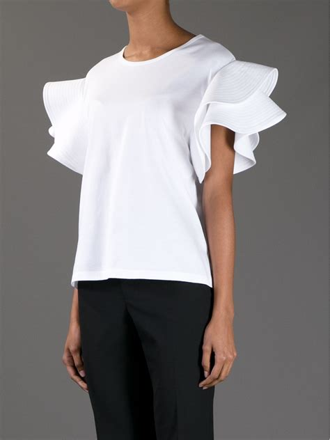Sleeve Top White Chlo 233 Ruffle Sleeve Top In White Lyst