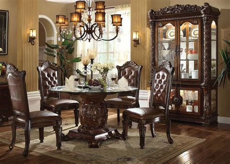 fancy glass dining room sets 38 best for home design ideas 62010 vendome dining table in cherry by acme w options