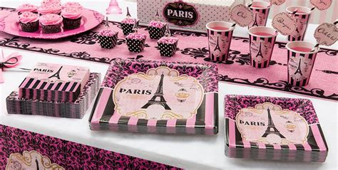 paris themed party kit a day in paris party supplies party city