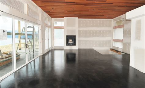 modern floor mode concrete black acid stained modern concrete floor