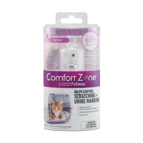 comfort zone spray with feliway for cats comfort zone with feliway cat spray 75 ml chewy com