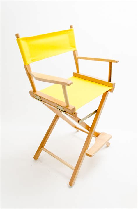 yellow directors chair gold medal directors chair commercial 24 quot yellow