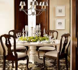 Decorating Dining Room Tables by Comfortable Classic Green Dining Room Home Interior