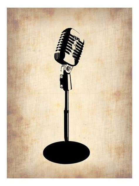 Wall Murals Painting vintage microphone poster by naxart at allposters com