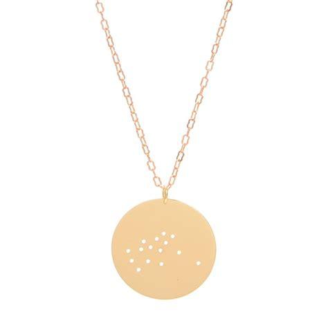 aquarius necklace gold plate