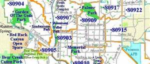 colorado springs zip code map printable zip code map