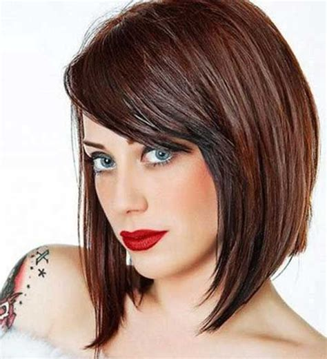 Best 25 Short Angled Bobs Ideas On Pinterest Short   pictures bob hairstyles with fringe bangs black