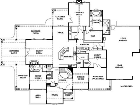 country homes floor plans french country chateau floor plans french country house