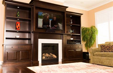 Fireplace Cabinets by Custom Built In Fireplace Cabinets On Allen S