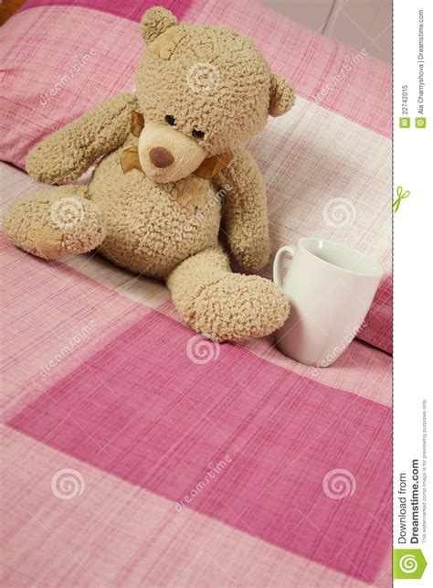 bear bed teddy bear in bed royalty free stock photo image 22742015