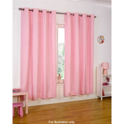 light pink eyelet curtains b m