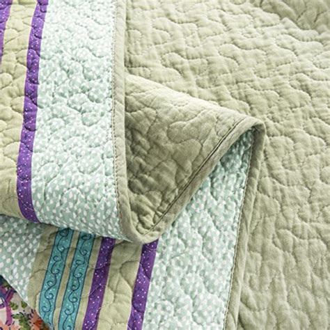 green quilted coverlet dada bedding frosted pastel gardenia bohemian reversible