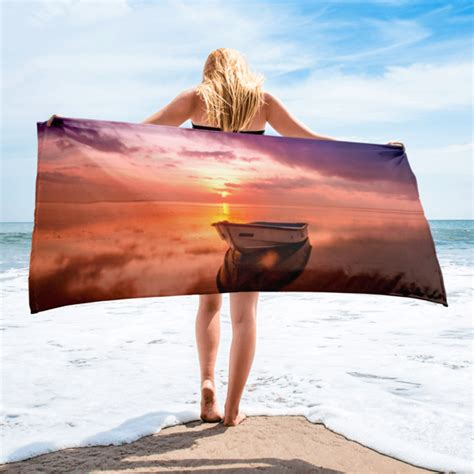boat beach towels boat in sunset beach towel greatness reinvented