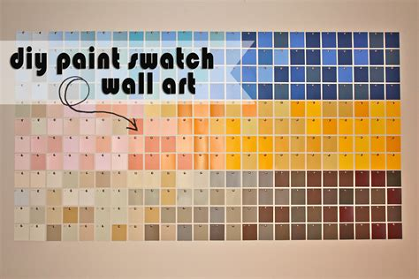 diy paint swatch wall kristen mcashan