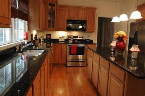 kitchen kitchens  black granite countertops