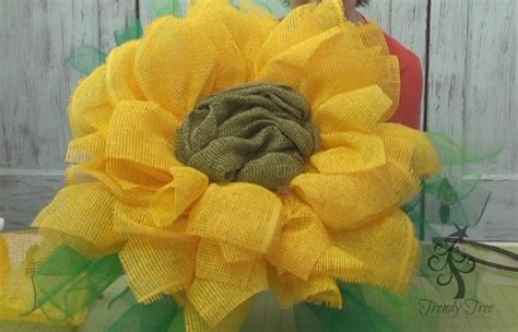 yellow paper flower wreath tutorial new sunflower yellow paper flower tutorial with paper mesh