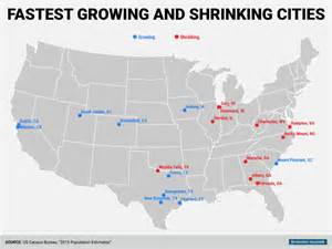us map cities by population census bureau city population change map business insider