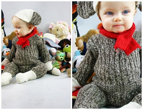 diy toddler sock monkey costume sock monkey baby costume holidays offbeat families