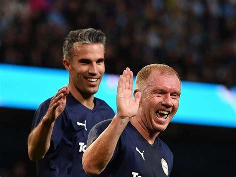 vincent kompany testimonial highlights man city legends draw  premier league allstars