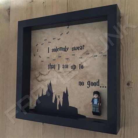 figure frame harry potter i solemnly lego minifig display frame