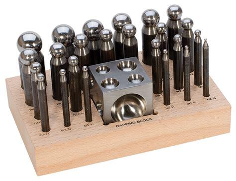metal jewelry tools dapping metal or wood