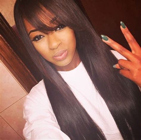 bang hairstyle with brazilian hair 6a brazilian virgin hair silky straight wavy indian