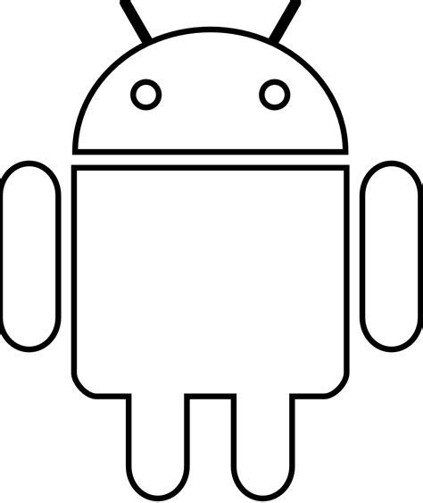 coloring book free android 187 android robot black white line scalable vector