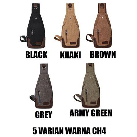 Tas Selempang Pria Import Tas Kulit Sling Bag Korean Style ch4 tas pria import impor slempang selempang slingbag