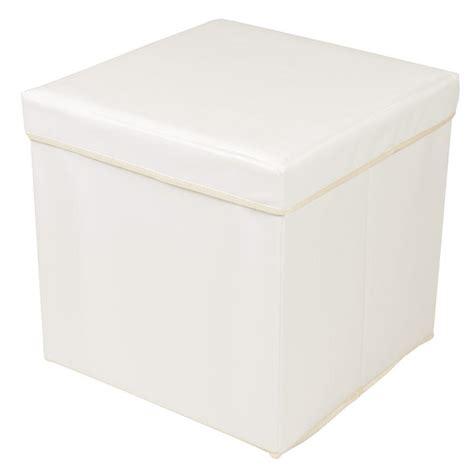 cream leather ottoman storage cream faux leather folding storage pouffe seat ottoman toy