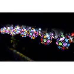 guirlande solaire 10 globes facettes verre de couleur sur