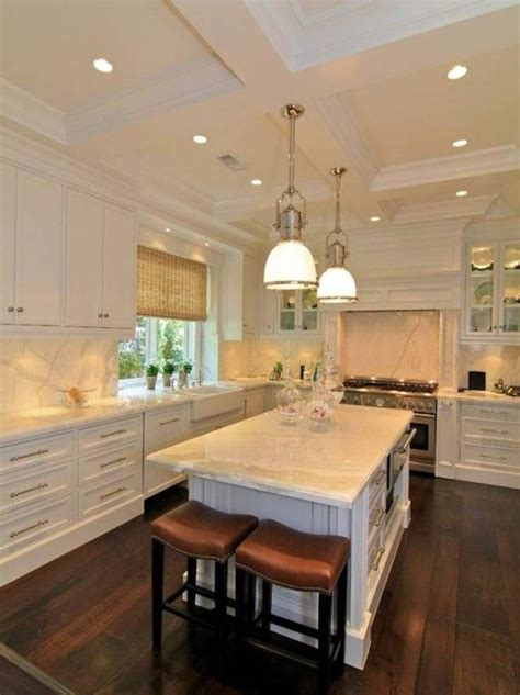Kitchen Ceiling Light Ideas, recessed lights, surface lights ~ Home Design