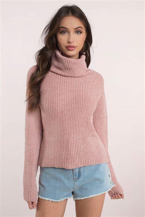 Turtle Neck pink sweater turtle neck jumper pink turtle neck