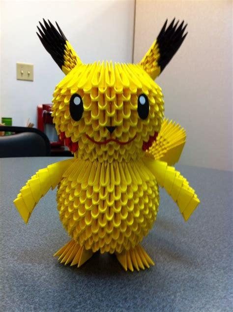 3d Origami Pikachu - pin 3d origami pikachu on