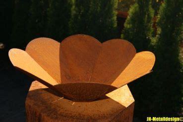 Feuerschale Blume jh metalldesign schale feuerschale blume edelrost