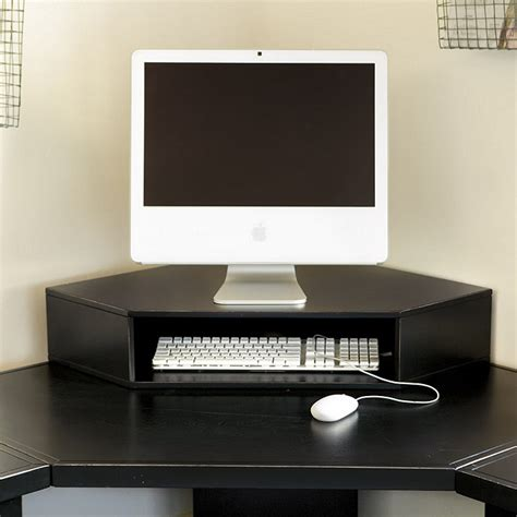 Corner Desk With Monitor Platform Original Home Officelow Corner Hutch Home Accessories Ballard Designs