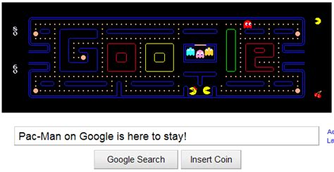 pacman two player s pac doodle gets a permanent home page