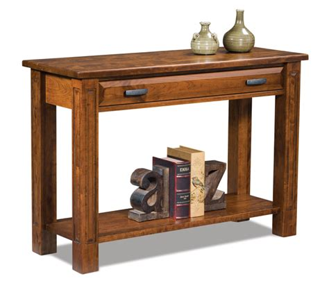 sofa table with drawer open sofa table with drawer amish furniture