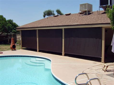 Roll Patio Screens by Patio Roll Up Shades Arizona Sun Screen