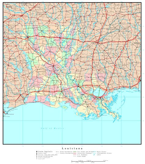 map of louisiana and texas with cities louisiana political map