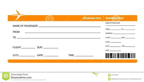 plane ticket gift card template template for airline ticket