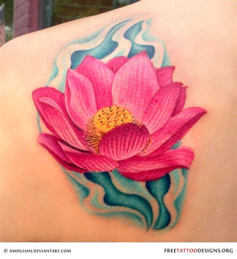 pink lotus tattoo pink lotus flowers pictures to pin on tattooskid