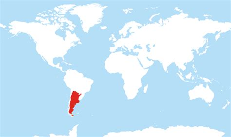 where is argentina on the world map where is argentina located on the world map