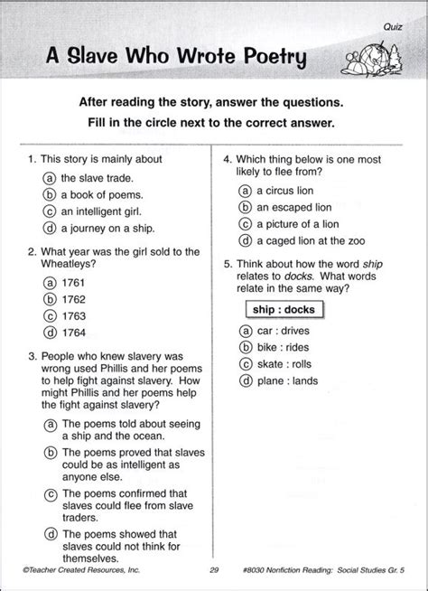 reading comprehension test in grade 5 hindi comprehension passages with questions for grade 2