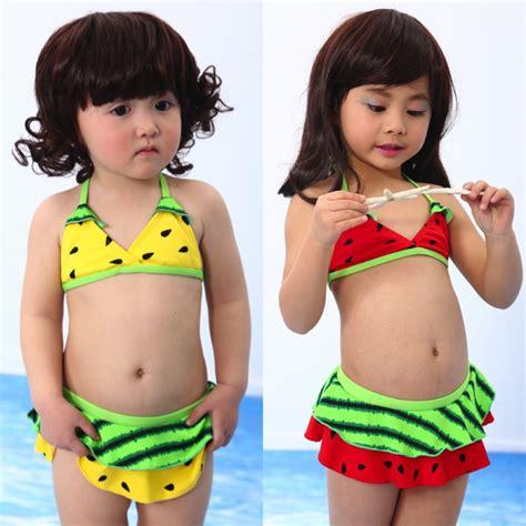 fruits little girl swimsuit children little girls watermelon fruit bikini swimsuit
